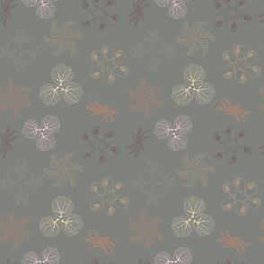 Faded Sea - Mandala Toss in Grey