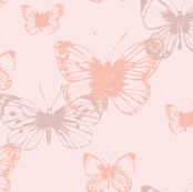 Pretty butterfly design baby pink