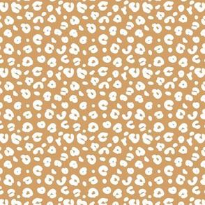 Tiny smooth cheetah boho indian summer jungle animal print nursery cinnamon brown white SMALL