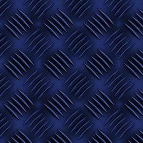 Blue and Black Diamond Plate
