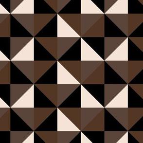 Brown Geometric  Square Studs