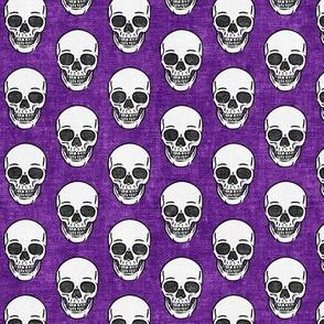 skulls - purple skull - halloween - LAD20