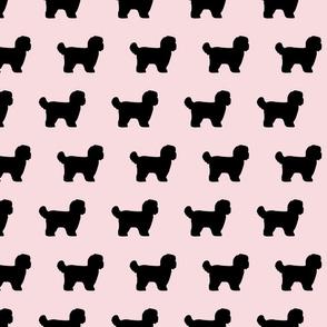 Shihtzu Black Dog Silhouettes