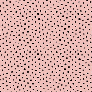 Tiny speckles little abstract boho cheetah spots and dots neutral nursery pink black