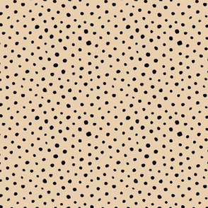 Tiny speckles little abstract boho cheetah spots and dots neutral nursery butter yellow
