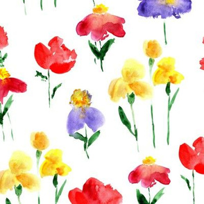 Bold bloom - watercolor summer flowers