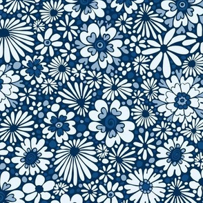 Classic Blue Limited Palette - Heart Flowers-Smaller