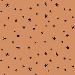 Messy stars little boho starry night universe minimal trend nursery sandstone cinnamon brown