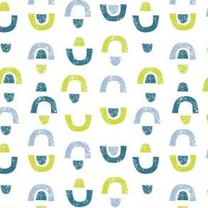 Arches & Gumdrops: Teal, Blue, Lime