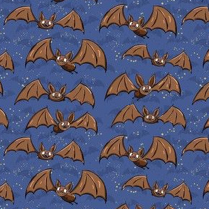 Bats - Small - Cute blue and black