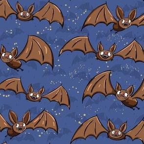 Cute Bats - LARGE - blue
