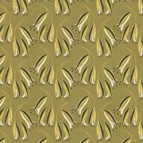 kowhai - on green