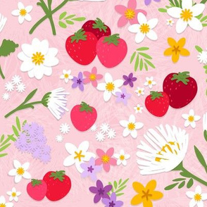 Strawberries and Wildflowers