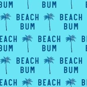 beach bum - blue on blue - C20BS