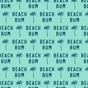 "(3/4"" scale) beach bum - blue on aqua - C20BS"