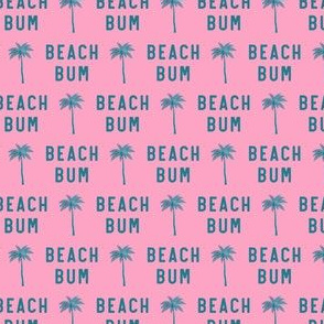 """(3/4"""" scale) beach bum - teal on pink - C20BS"""