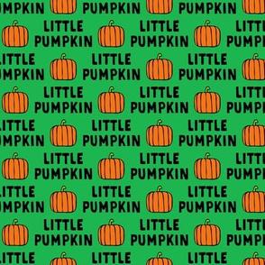 little pumpkin - halloween - green - LAD20