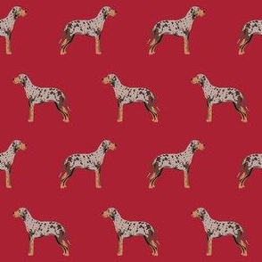 louisiana catahoula leopard dog fabric - red