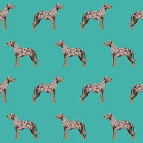 louisiana catahoula leopard dog fabric - turquoise