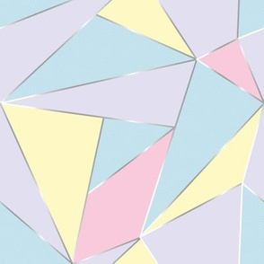 Geo Triangles in Pastel