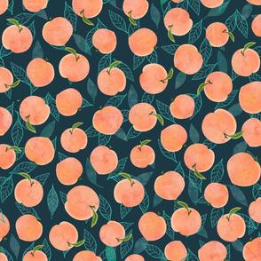 watercolor peaches
