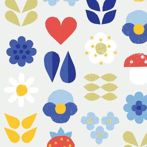 Papercut Scandinavian Midsummer Wildflowers M+M Petal by Friztin