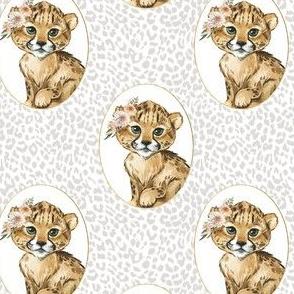 "4"" Amala the Cub Grey Cheetah"