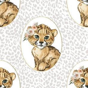 "8"" Amala the Cub Grey Cheetah"