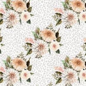 "4"" Savanna Florals with Grey Cheetah Print"