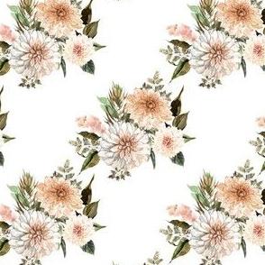 """4"""" Savanna Florals White Back"""