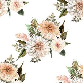"""8"""" Savanna Florals White Back"""