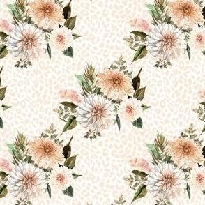 "4"" Savanna Florals with Ivory Cheetah Print"