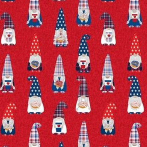 usa patriotic gnome fabric - red