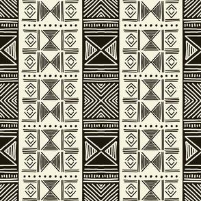 Ethnic Black & Ivory Mudcloth