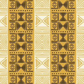 Ethnic Mustard Yellow Mudcloth