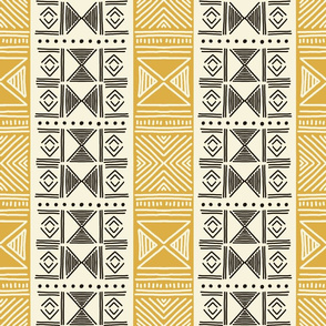 Ethnic Yellow Mudcloth