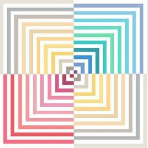 Optical illusion colorful