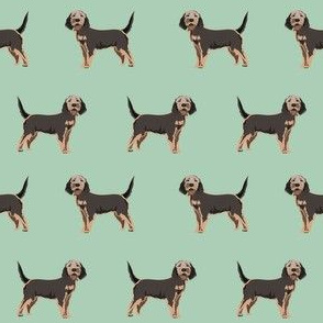 otterhound dog fabric - mint
