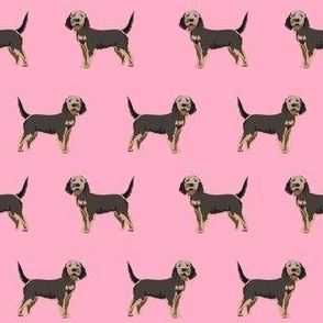 otterhound dog fabric - pink