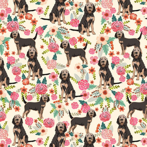 otterhound floral fabric - cream