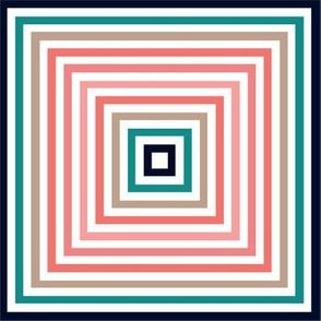 Squares in squares geometric shape art