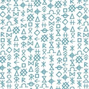 Runes, Dusty Blue