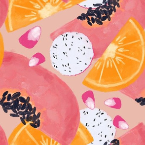 Summer fruits- pink & orange