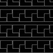 Black and white retangles