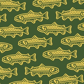 Thick Line Trout [Green+Yellow]