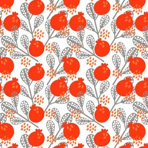 Orange pomegranates
