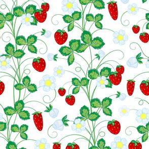 Light strawberry pattern