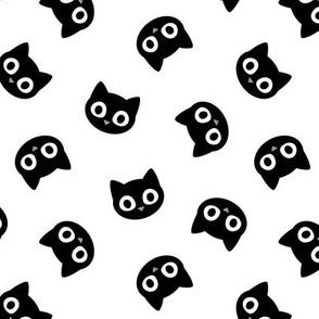 black cats - cute halloween - white - LAD20