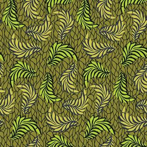 African Wax Print Leaves