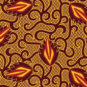 Abstract Flowers African Wax Print